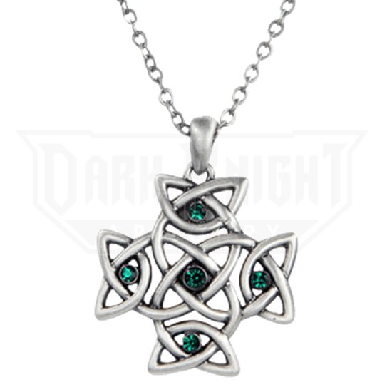 Celtic Crystal Cross Necklace