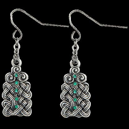 Woven Crystal Knot Earrings