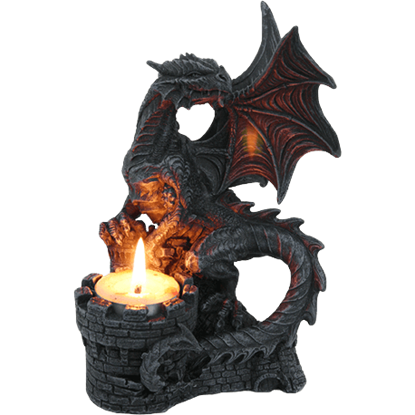 Dragon Castle Turret Candle Holder