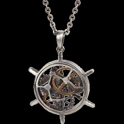 Steampunk Helm Necklace