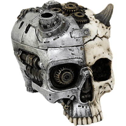 Horned Steampunk Skull Box