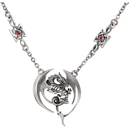 Winged Dragon Knot Necklace