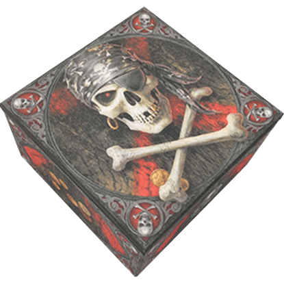 Pirate Skull Trinket Box