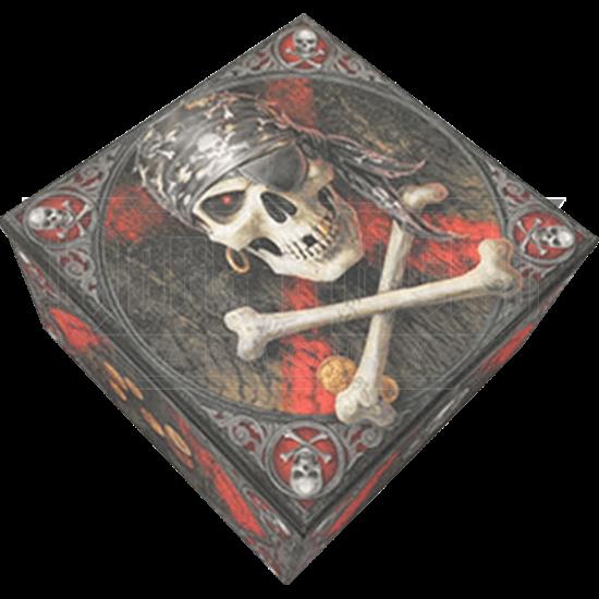 Pirate Skull Trinket Box