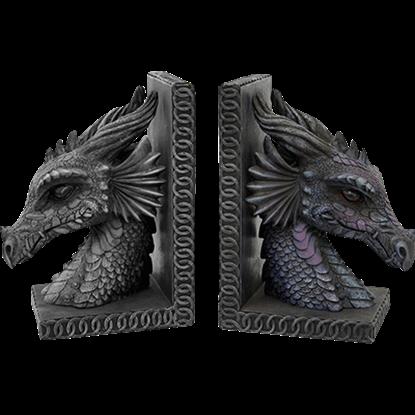 Dragon Head Bookends