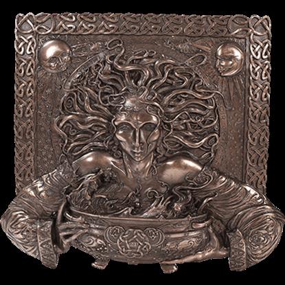 Bronze Cerridwen Plaque