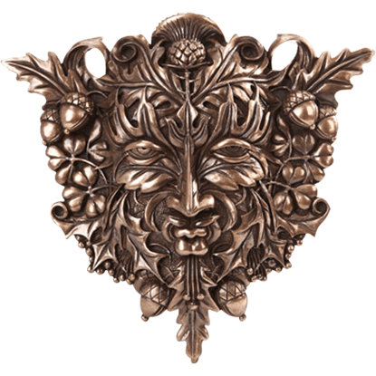 Bronze Acorn and Clover Greenman Plaque