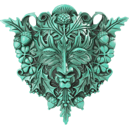 Acorn and Clover Greenman Plaque