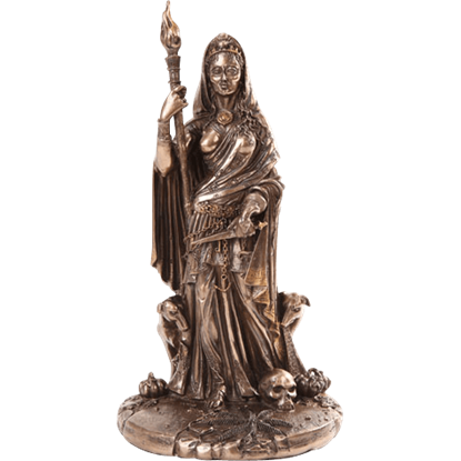 Bronze Goddess Hecate Statue