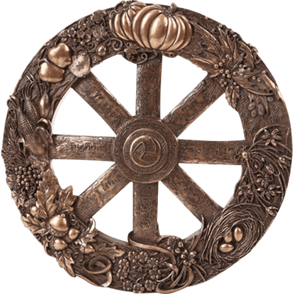 Bronze Wheel of the Year Plaque