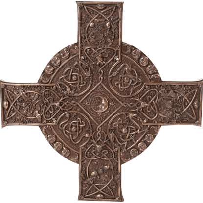 Bronze Elemental Celtic Cross Plaque