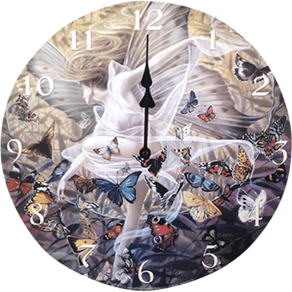 Butterfly Fairy Revelation Wall Clock
