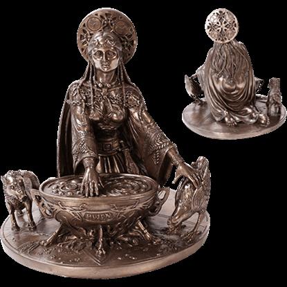 Bronze Celtic Cerridwen Statue