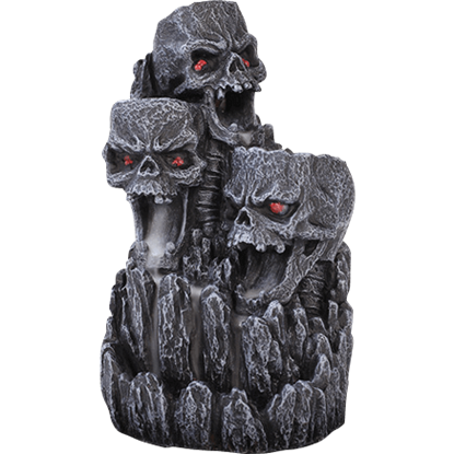 Gothic Skull Backflow Incense Burner