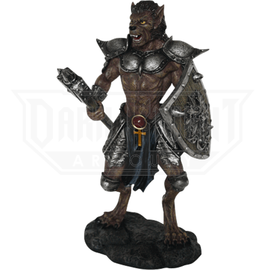 Dark Werewolf Warrior Statue