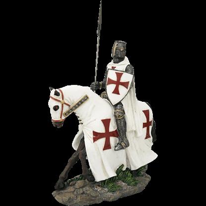 Templar Knight on Horseback Statue