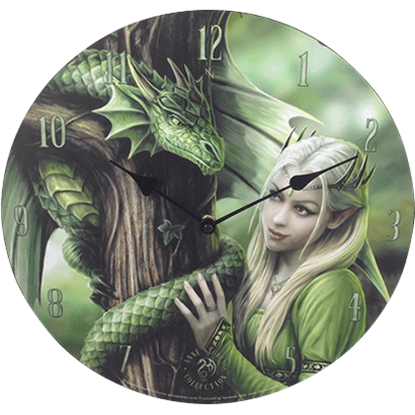 Kindred Spirits Clock by Anne Stokes