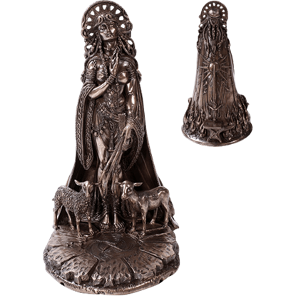 Bronze Celtic Goddess Brigid Statue