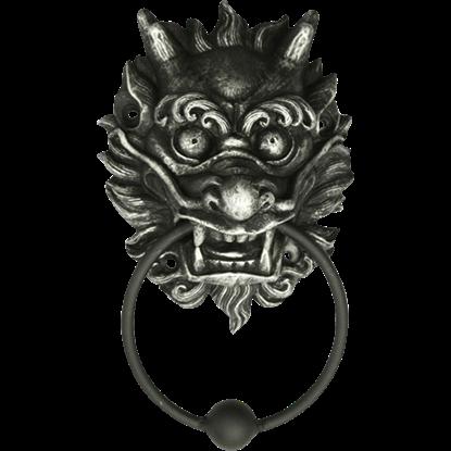 Fanged Oriental Lion Door Knocker
