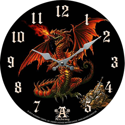 Skull Guardian Dragon Clock