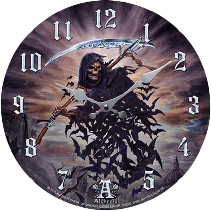 Raven Reaper Clock