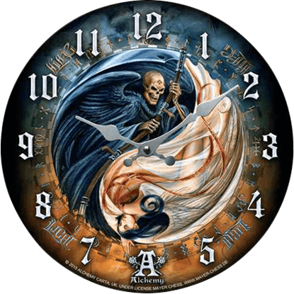 Angel and Demon Yin Yang Clock