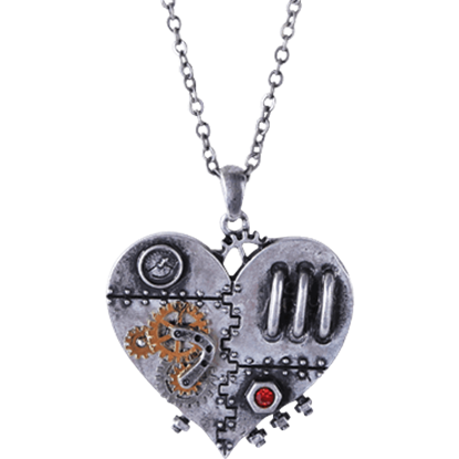 Steampunk Clockwork Heart Necklace