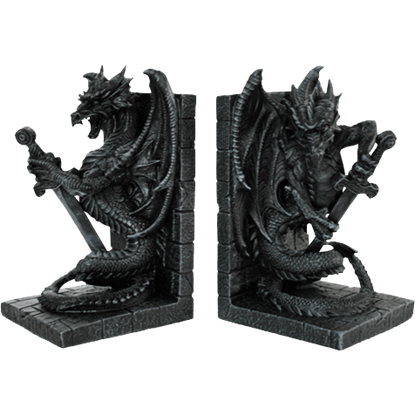 Dragon Guardian Bookends