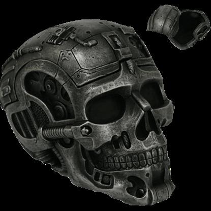 Cyborg Skull Trinket Box