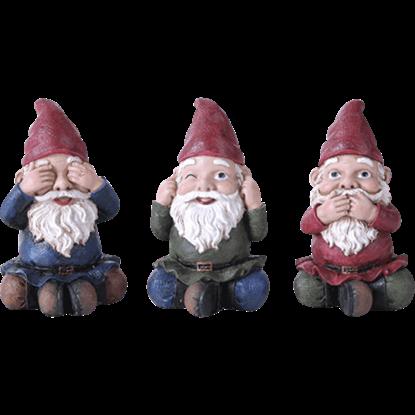 No Evil Gnomes 3 Piece Set
