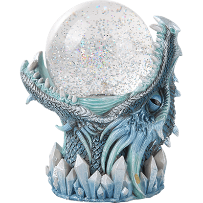 Frost Dragon Storm Ball Statue