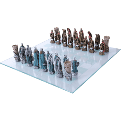 King Arthur and Dragons Chess Set
