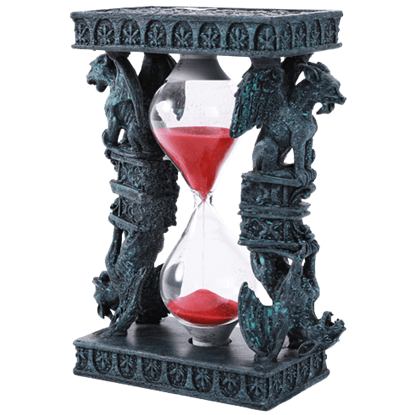 Fleur de Lis Gargoyle Hourglass