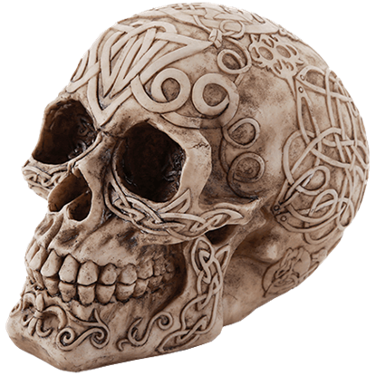Celtic Myth Skull Head