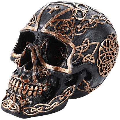 Celtic Cross Black Skull