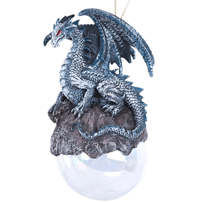 Checkmate Gray Dragon Ornament