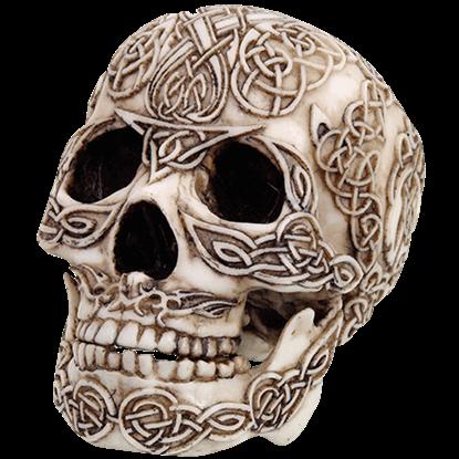 Celtic Skull Statue