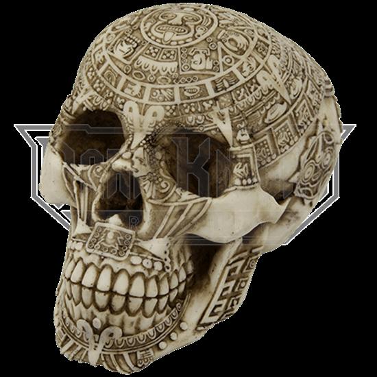 Aztec Skull Statue