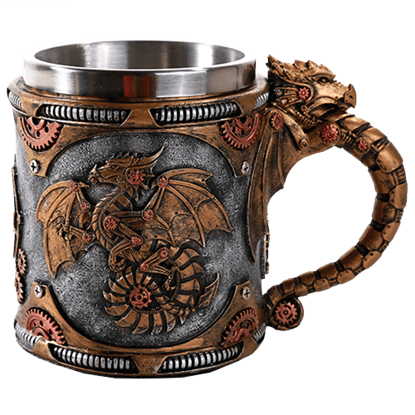 Steampunk Dragon Mug