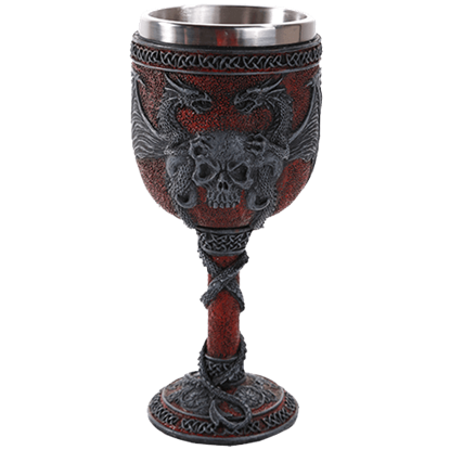 Double Dragon Skull Goblet