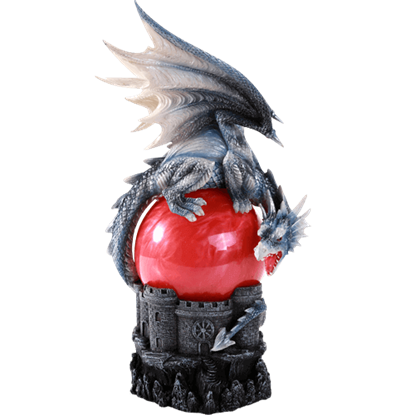 Castle Dragon Storm Ball Statue