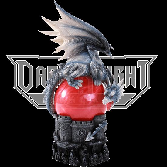 Castle Dragon Storm Ball Statue