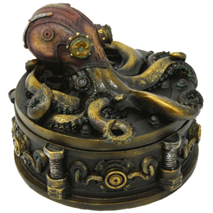 Round Octopus Trinket Box