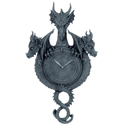 Dragon Trio Wall Clock