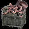 Octopus Pirate Chest Trinket Box
