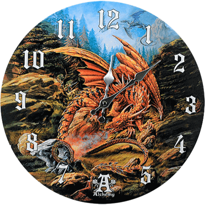 Dragons of the Runering Wall Clock