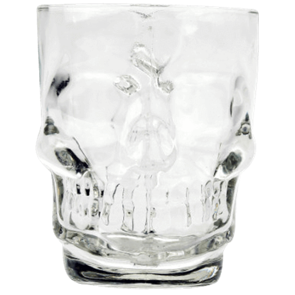 Gothic Skull Drinking Glass
