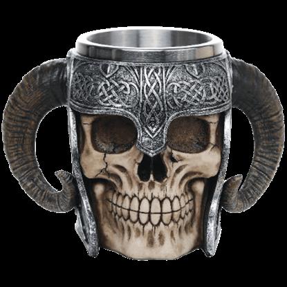 Viking Warrior Skull Helmet Mug