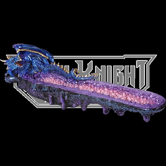 Blue Dragon Geode Incense Burner