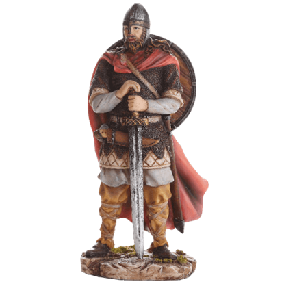 Full Color Resting Viking Warrior Statue